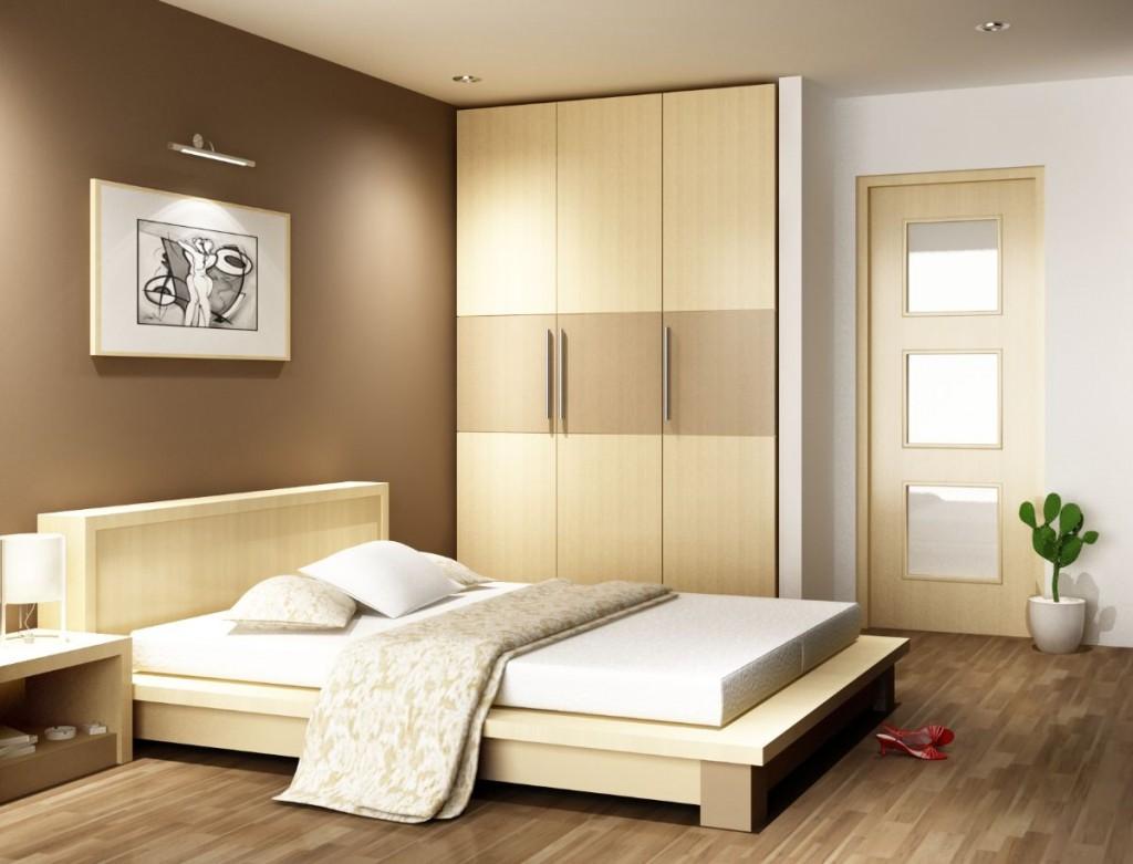 kê giường ngủ đối diện cửa