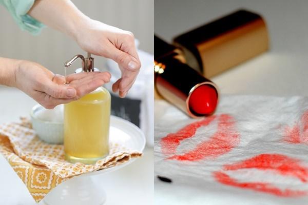 Cách loại bỏ nhanh vết son môi dính trên quần áo