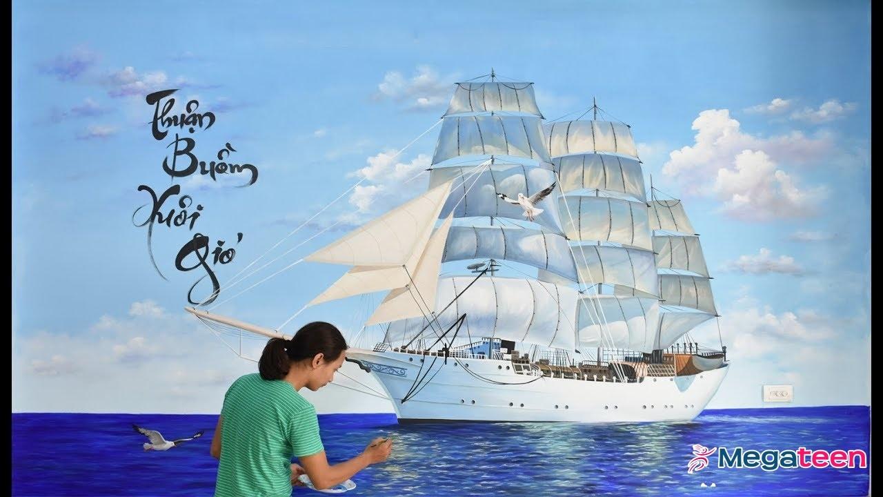 Tranh Thuyền Buồm Treo Hướng Nào