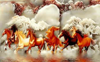 Phong Thủy Tranh Con Ngựa
