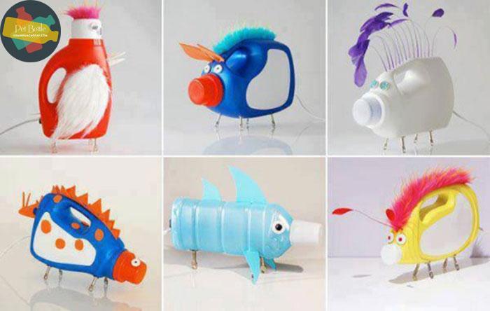 Cách làm đồ chơi từ can nhựa