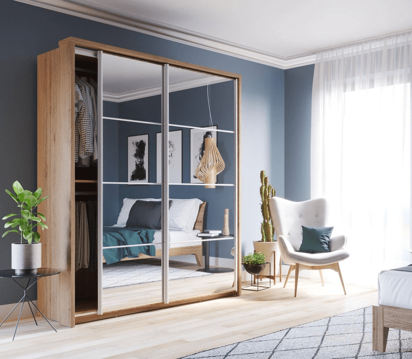Cách Đặt Tủ Quần Áo Có Gương Trong Phòng Ngủ