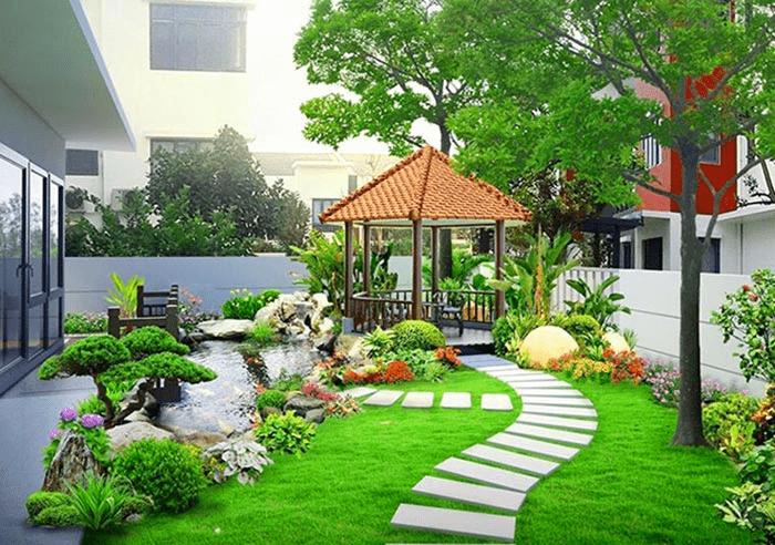 Diện tích sân vườn ohong thủy
