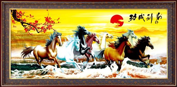 Phong Thủy Tranh 8 Chú Ngựa