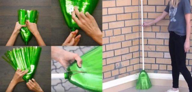 Cách Làm Vật Dùng Từ Chai Nhựa Thành Chỗi Quét Nhà