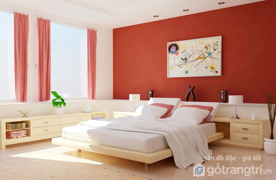 Phong thủy giường ngủ theo màu cho người mệnh Hỏa