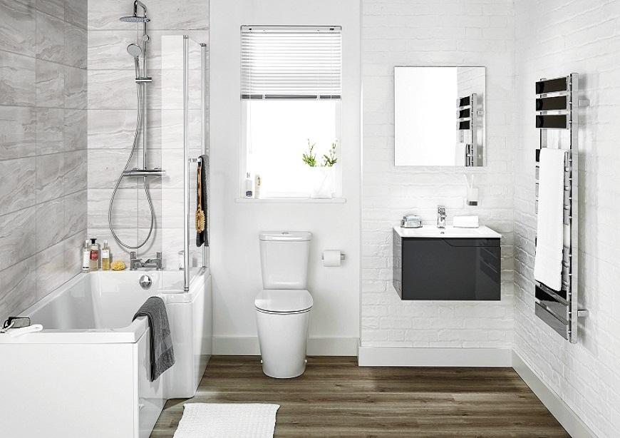 Trang trí nội thất trong nhà vệ sinh nhỏ