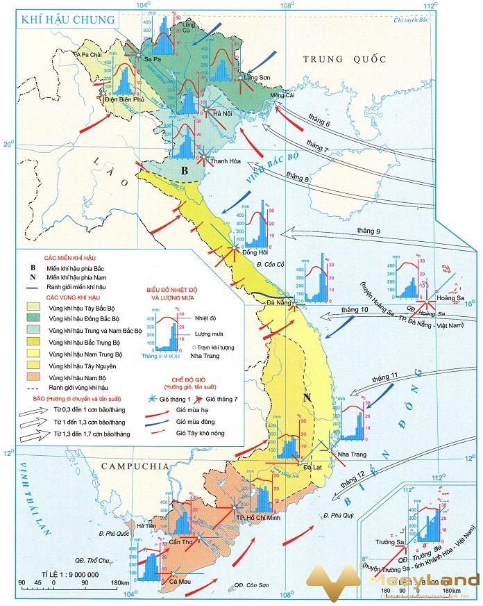 Xác đinh phươn hướng đông tây nam bắc bằng bản đồ